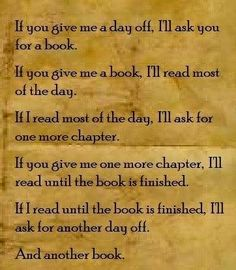 If you give a reader a book....