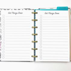 To Do List Checklist Inserts for Mini Happy Planner by PlanWithVi