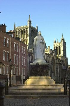 College Green, Bristol, UK - Statue of Queen Victoria.