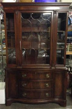 Wood Glass, China Cabinets, Duncan Phyfe, Antique Furniture, Cupboard, Mood  Boards, Footlocker, Armoire, Dining Hutch