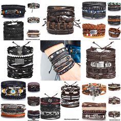 Sea Jewelry, Ml B, Make A Gift, Braided Leather, Handmade Leather, Bracelet Set, Boy Or Girl, Nba, Braids