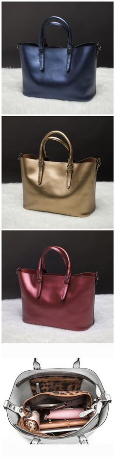 Women's Genuine Leather Casual Tote Purse Shoulder Handbag Ladies Large Shopping Bag Bolsos Bagail.com