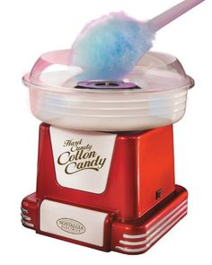 Nostalgia Retro Series Hard & Sugar Free Candy Cotton Candy Maker with Flossing Cones Nostalgia, Small Kitchen Appliances, Kitchen Gadgets, Kitchen Stuff, Coca Cola, Cotton Candy Cone, Sugar Free Candy, 10 Year Old Girl, Plastic Bowls