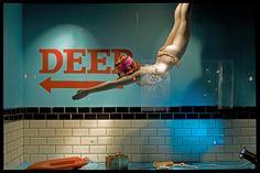 """""""Diving in the deep end"""" , pinned by Ton van der Veer"""