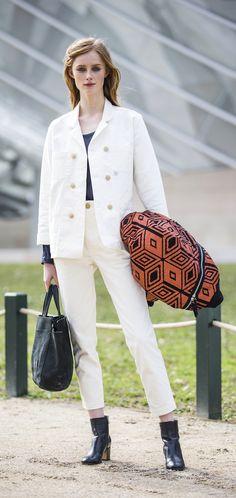 Rianne van Rompaey. Paris Fashion Week Fall 2016.