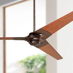 """52"""" Modern Fan Torsion Dark Bronze Ceiling Fan"""