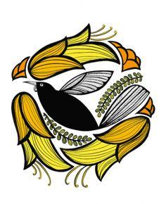 Art We offer an ever changing range of prints from many new Maori Designs, New Zealand Art, Nz Art, Maori Art, Kiwiana, Bird Design, Fabric Painting, Bird Art, Chinese Art