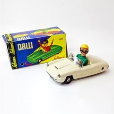 Tin Toy car 1960's Schuco Dalli with 1011 Repro with box 446 #Shuco