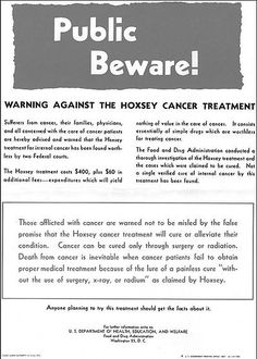 Harry Hoxsey used diet to cure cancer & got chased off to Mexico by our government
