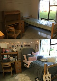 These amazing before-and-after photos of college dorm room makeovers prove you can turn even the darkest space into a bright, cozy new home.