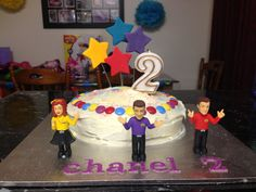 Easy DIY 'the Wiggles' cake 2nd Birthday Cake Girl, Wiggles Birthday, Wiggles Party, Birthday Fun, Birthday Ideas, Birthday Parties, Wiggles Cake, The Wiggles, Party Plan
