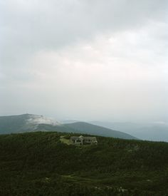 Appalachian Mountain Club's Greenleaf Hut in the White Mountains of New Hampshire.    Photograph by Ryan Shorosky.