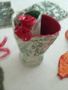 Double rose vases