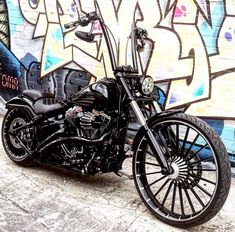 harley fatboy with black ape hangers My Style Harley