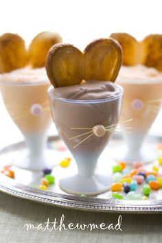 bunny ears mousse for easter