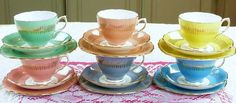 harlequin tea set