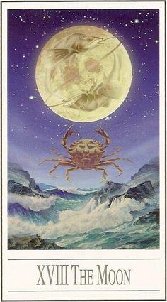 XVIII - La lune - Tarot Ananda par Ananda Kurt Pilz