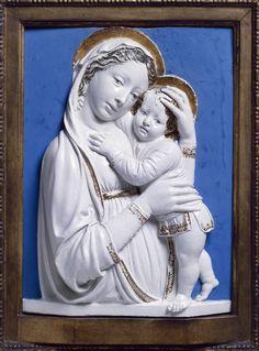 Luca della Robbia, Madonna col Bambino (Madonna genovese), 1445-1450, Detroit, Detroit Institute of Arts.