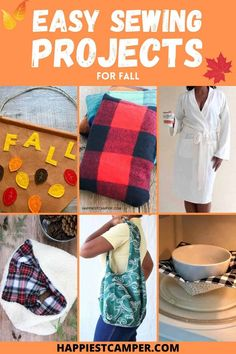 Check out these awesome Easy Fall Sewing Projects that you can sew with these step by step sewing tutorials. These are the perfect Fall sewing projects that make you feel all warm and cozy inside. Plus these fall sewing projects make great gifts for the upcoming holiday season. Start sewing these projects today and enjoy them later today. I love all the Fall sewing projects as it is my favorite time of the year. Fall Sewing Projects, Sewing Projects For Beginners, Diy Craft Projects, Sewing Tutorials, Sewing Crafts, Sewing Ideas, Craft Ideas, Make Your Own Clothes, Fabric Gifts