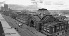 Panoramic view of the Tacoma Union Station looking NE - Photo taken in April of 1974 from the roof of the hardware store across Pacific Ave