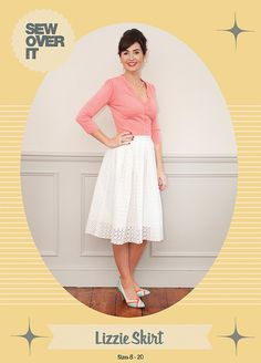 Meet the Lizzie Skirt pattern! Sew Over It Lizzie Skirt Dress Making Patterns, Skirt Patterns Sewing, Skirt Sewing, Pattern Sewing, Clothes Patterns, Pleated Skirt Pattern, Lace Skirt, Dress Skirt, Co Ords Outfits