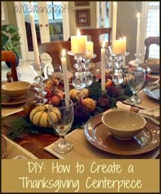 Creating an Elegant Thanksgiving Tablescape | Premeditated Leftovers