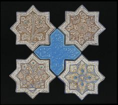 Tile      Place of origin:      Kashan, Iran (made)     Artist/Maker:      unknown (production)     Materials and Techniques:      Fritware with lustre decoration     Museum number:      1074-1875