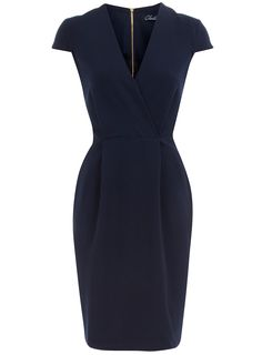 Navy cap sleeve dress - Day Dresses - Dresses - Dorothy Perkins