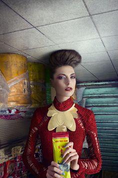 """Editorial de moda """"Fortune Cookie"""", por Pinch Martin Tremblay #photography #DigitalArt"""