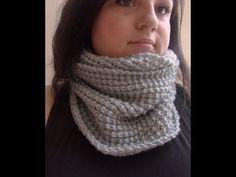 Tuto Snood / tour de cou point sillon , cadeau cynthia dulude / knit easy snood - YouTube