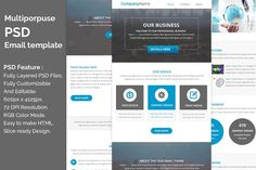 PSD Multiporpuse email template e2. by QuickArtisan on @creativemarket