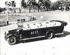 1880 to 1950 : Rare Old Mumbai Photos - (10 Pictures) - A Vintage Car in Mumbai, 1920.