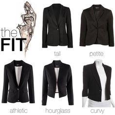 The best black blazer for your body type.