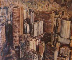 Do alto, ouço melhor (2013) óleo e esmalte sobre tela (114 x 140cm)