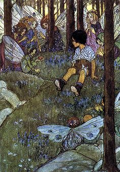 """""""Elfln Song"""" Written by George Whitefield Chadwick - Art by Emma Florence Harrison - A Song/Tale From England (1910)"""