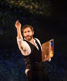 """Jake Gyllenhaal Daily = playing Georges Seurat in the Sondheim musical, """"Sunday in the Park with George"""""""