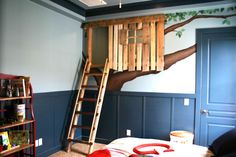 Tree house in a kids room!