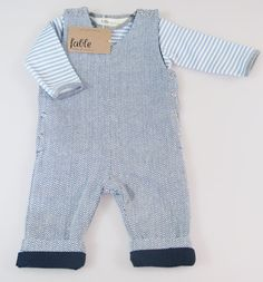 Baby Overalls in Fair Trade and Organic Cotton, Fully Lined - Herringbone. $79.00, via Etsy.