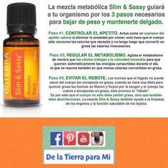 Necesitas acelerar tu metabolismo y bajar de peso? La mezcla Slim&Sassy es una fórmula especialmente diseñada para lograrlo ! #aceitesesenciales #doterra #delatierraparami #kitmedicofamiliar #slimsassy #slimandsassy #slim&sassy #bajardepeso #metabolismo