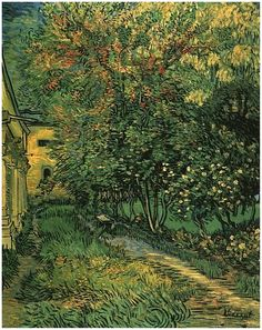 Vincent van Gogh;  The Garden of Saint-Paul Hospital, 1889.  http://vangoghgallery.com/