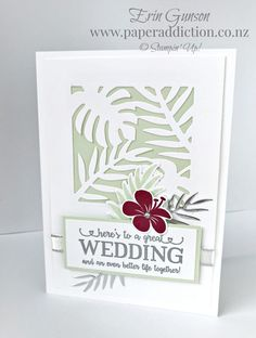 Paper Addiction - Erin Gunson - Stampin' Up!® Independent Demonstrator Aniversary Cards, Wedding Anniversary Cards, Happy Anniversary, Wedding Cards Handmade, Beautiful Handmade Cards, Unique Cards, Stamping Up Cards, Card Making Inspiration, Pretty Cards