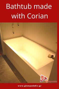 A #bathtub made with #corian for a #greek #house!