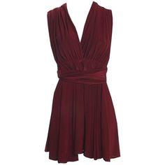14efbd318f393f Boohoo Silvana Multi Way Slinky Skater Dress ($35) ❤ liked on Polyvore  featuring dresses