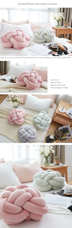 Knotted Pillow Cushion Great For Your Home Decor