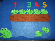 5 Little Speckled Frogs Felt Set | Pre-school Play
