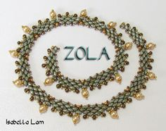 ZOLA SuperDuo Beadwork Necklace Pdf tutorial instructions for personal use only. $6.00, via Etsy.