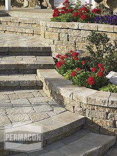 Apply our surfaces protector Faceal Oleo HD on Concrete masonry. Photo: Concrete masonry & landscaping design portfolio | Permacon