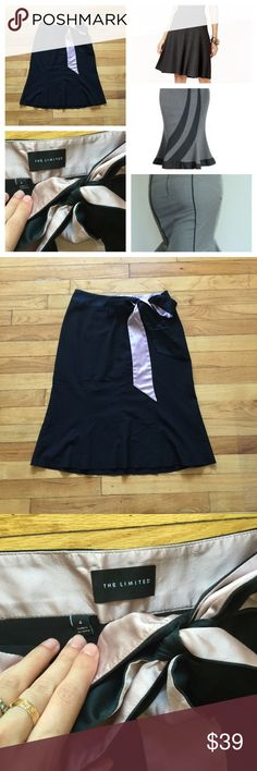 Side bow fit and flare black skirt Great for the office. Size 4. Excellent used condition. Has a self tying side bow. Side zipper. Color is black. The Limited Skirts Pencil