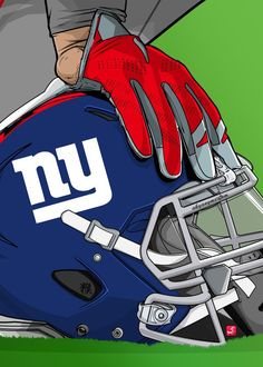 "NFL Team Helmets New York Giants artwork by artist ""Akyanyme Dotcom""., : NFL Team Helmets New York Giants artwork by artist ""Akyanyme Dotcom"". Nfl Football Helmets, Football Art, Football Jokes, Chiefs Football, Football Design, Nfl Jokes, New York Giants Football, Giants Baseball, Football Pictures"