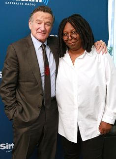 robin williams and friends   Robin Williams, Whoopi Goldberg, Famous Friends